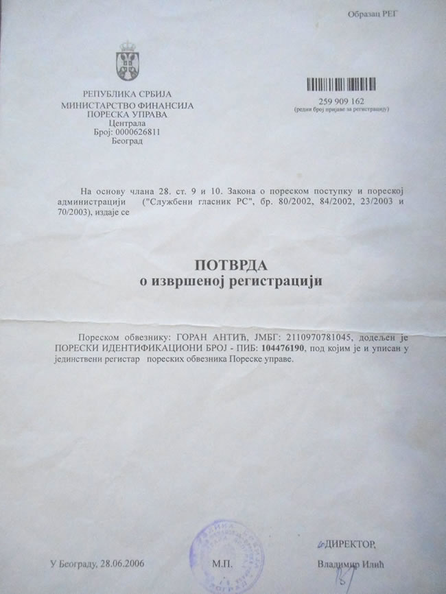 registrovana firma Katalog Sadnica