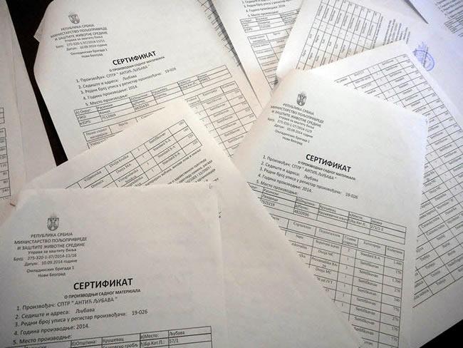 sertifikat2 Katalog Sadnica